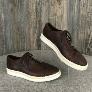 FRYE Leather Shoes Lace Tie Brown Sneakers